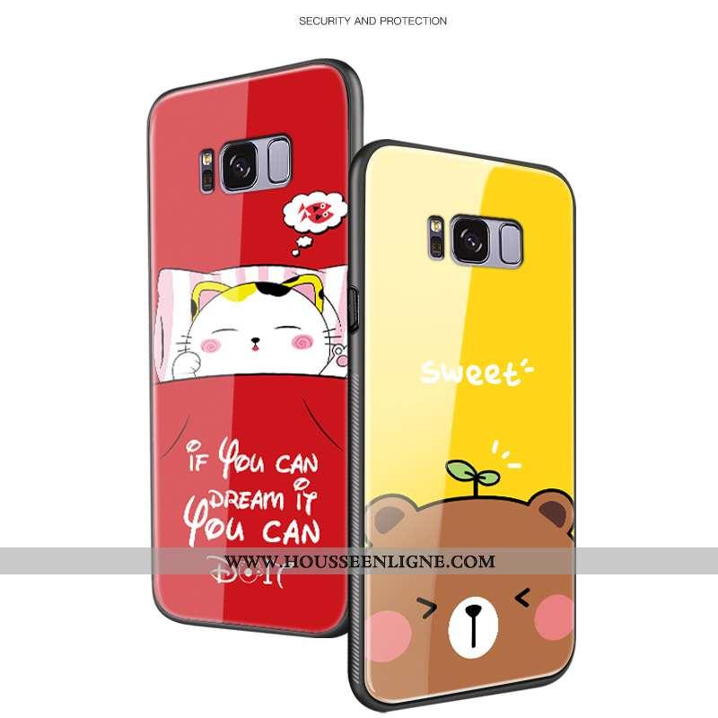 Étui Samsung Galaxy S8+ Tendance Protection Dessin Animé Jaune Difficile Luxe Créatif