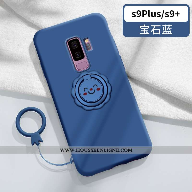 Étui Samsung Galaxy S9+ Légère Fluide Doux Vent Souriant Tendance Créatif Personnalité Bleu
