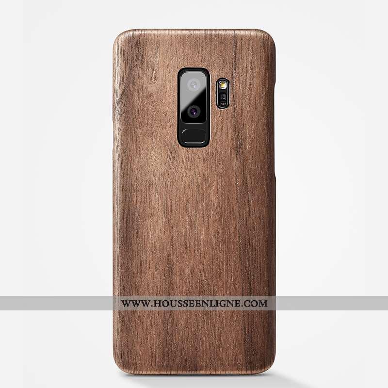 Étui Samsung Galaxy S9+ Légère Protection Marron Simple Personnalité Téléphone Portable Qualité