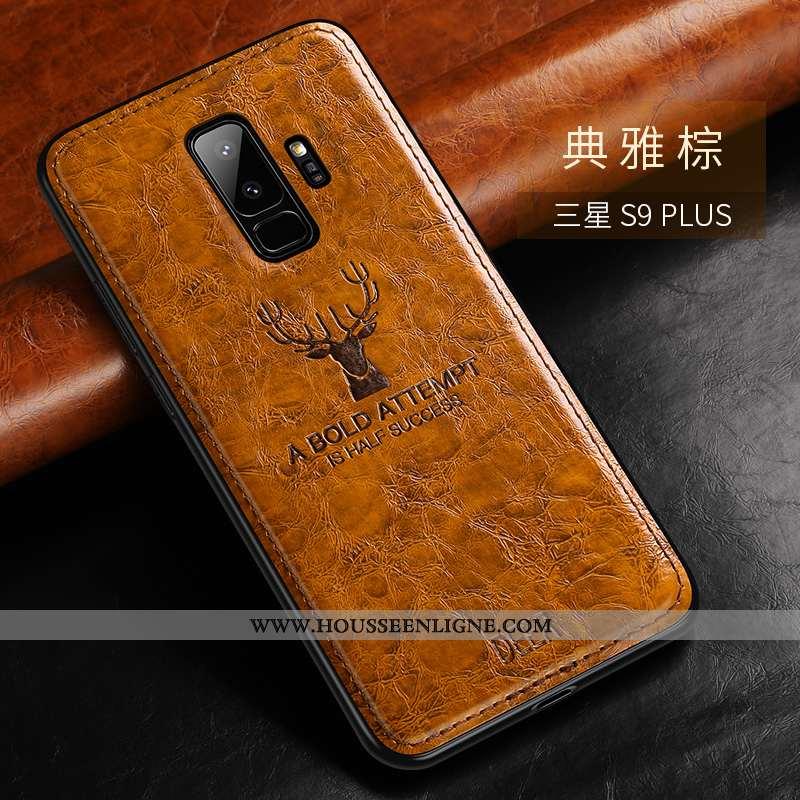 Étui Samsung Galaxy S9+ Silicone Mode Luxe Téléphone Portable Légère Ultra Fluide Doux Marron