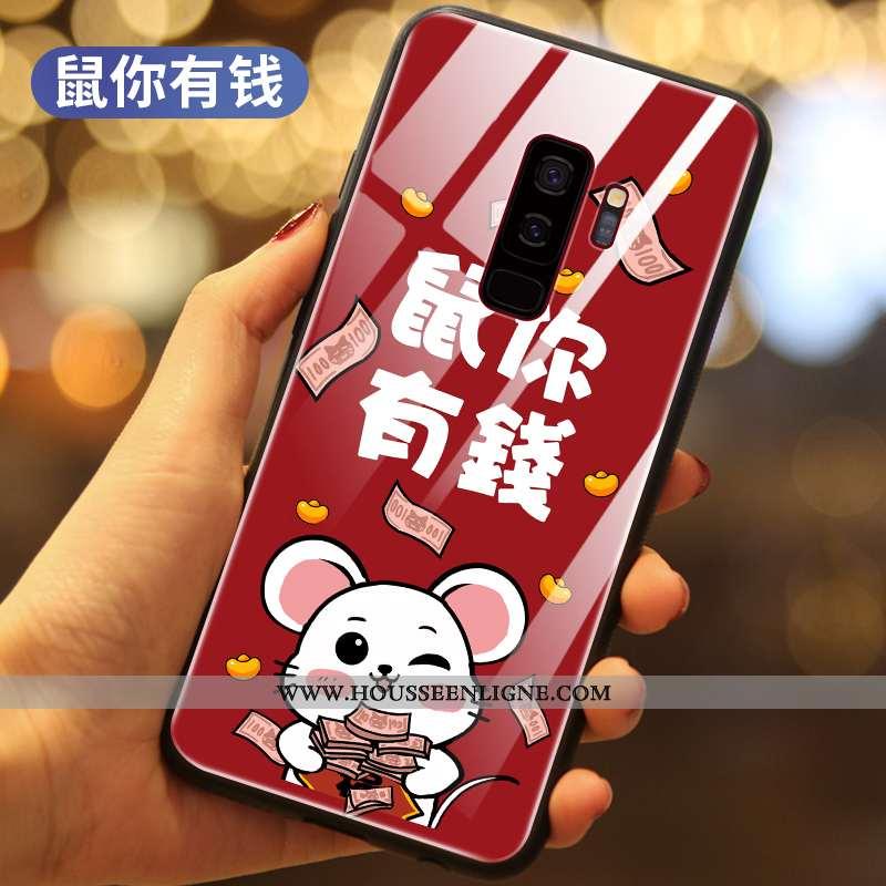 Étui Samsung Galaxy S9+ Ultra Légère Étoile Rat Tout Compris Net Rouge