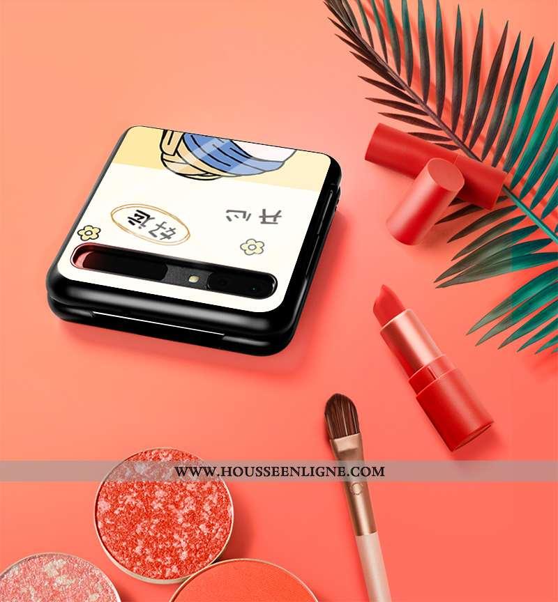 Étui Samsung Z Flip Mode Protection Blanc Fluide Doux Verre Nouveau Blanche