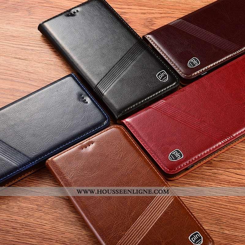Étui Sony Xperia 1 Ii Cuir Véritable Protection Coque Noir Incassable Téléphone Portable