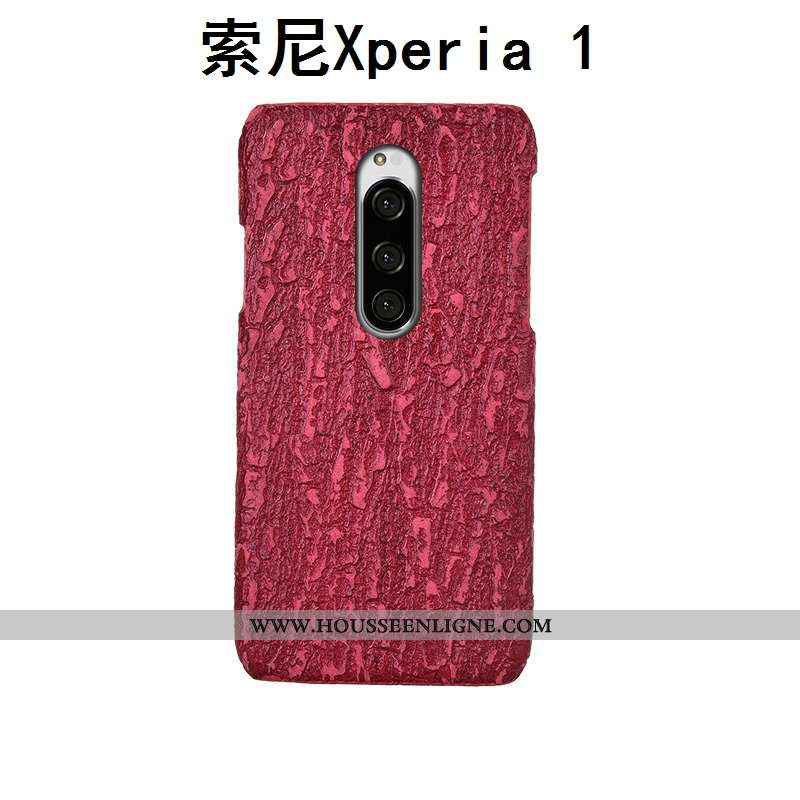 Étui Sony Xperia 1 Personnalité Créatif Téléphone Portable Luxe Protection Cuir Véritable Incassable
