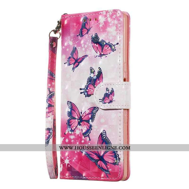 Étui Sony Xperia 10 Cuir Protection Téléphone Portable Clamshell Charmant Rose