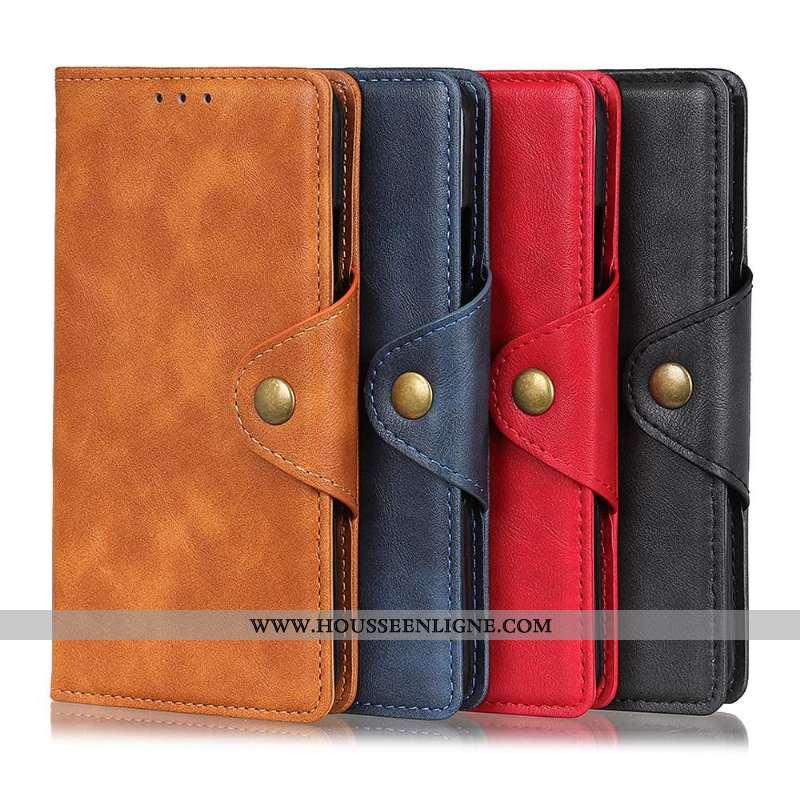 Étui Sony Xperia 10 Ii Protection Cuir Téléphone Portable Modèle Fleurie Kaki Coque Une Agrafe Khaki