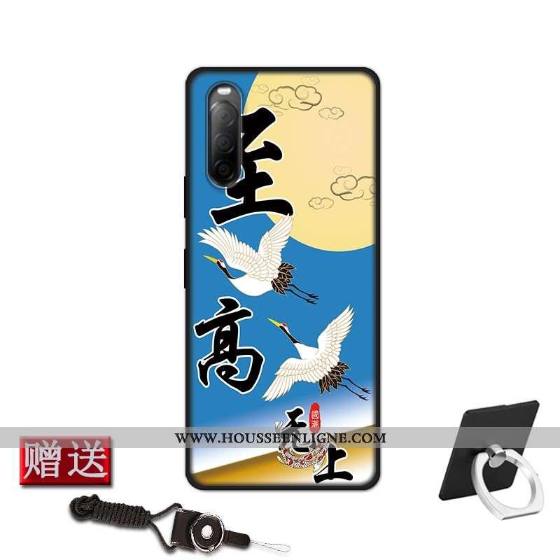 Étui Sony Xperia 10 Ii Protection Fluide Doux Coque Incassable Personnalisé Bleu Modèle