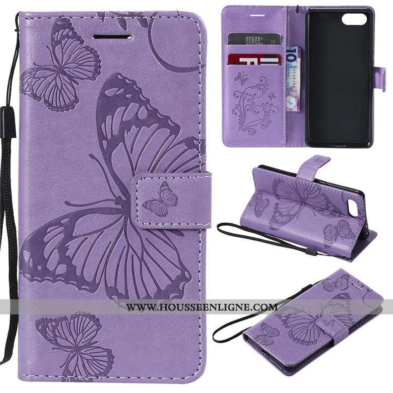 Étui Sony Xperia 10 Plus Cuir Fluide Doux Coque Protection Téléphone Portable Tout Compris Violet