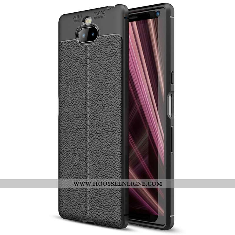 Étui Sony Xperia 10 Plus Protection Noir Tout Compris Téléphone Portable Coque