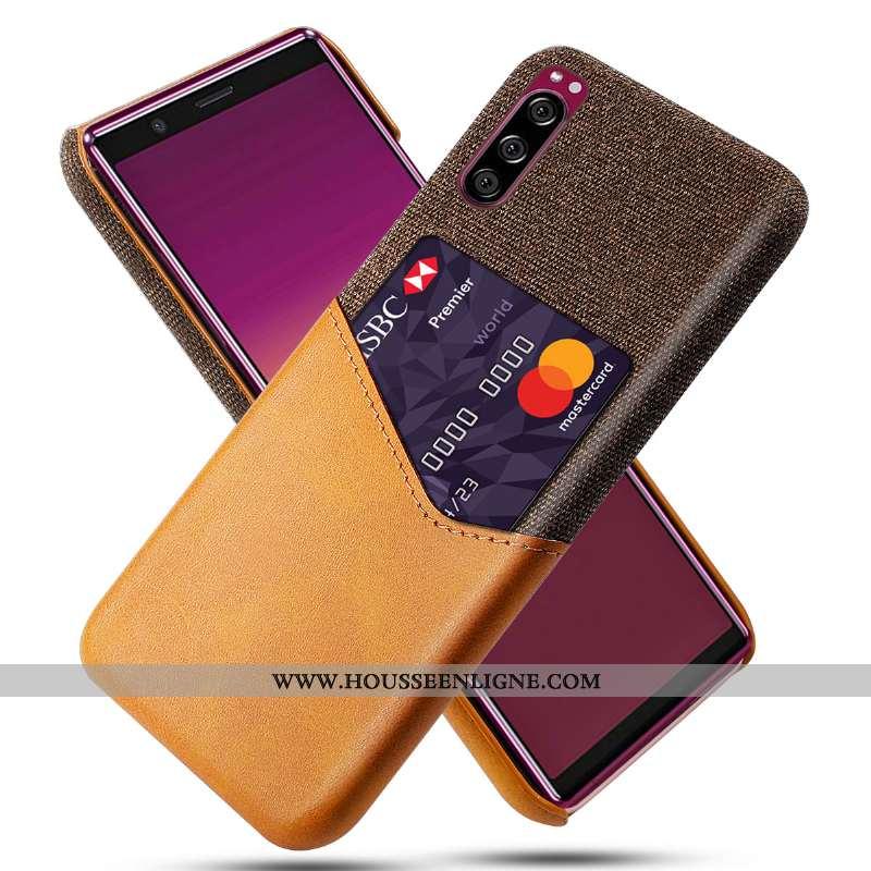 Étui Sony Xperia 5 Protection Coque Jaune Téléphone Portable