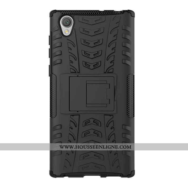 Étui Sony Xperia L1 Modèle Fleurie Protection Noir Téléphone Portable Incassable Personnalité