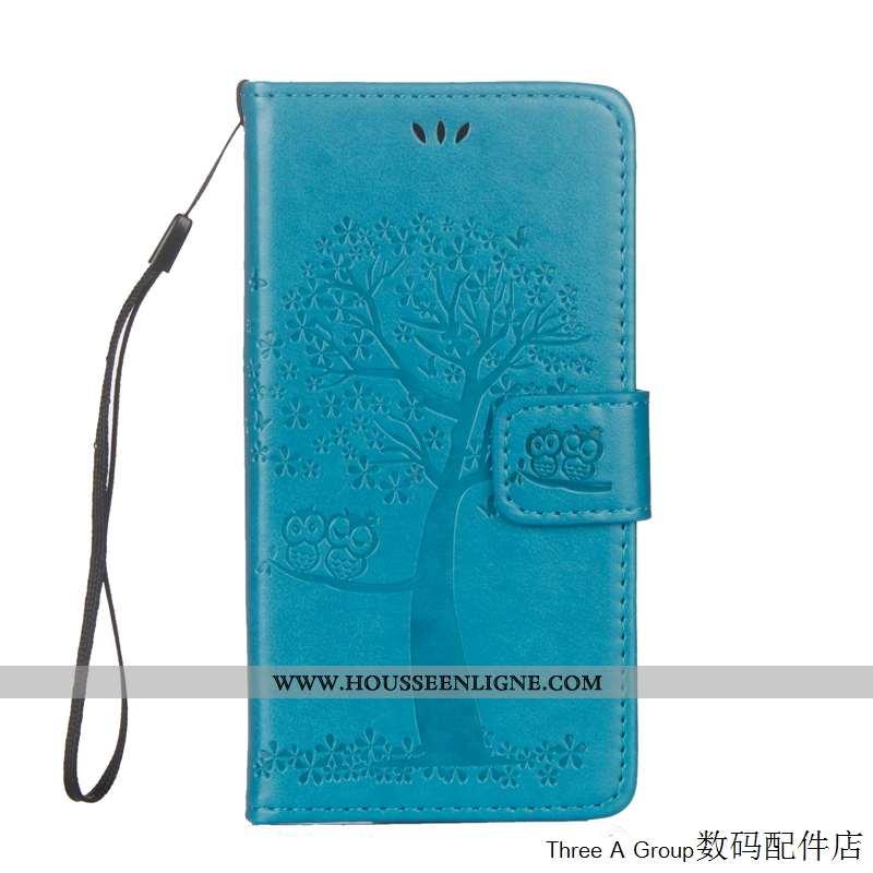 Étui Sony Xperia L1 Protection Cuir Coque Bleu Téléphone Portable Housse