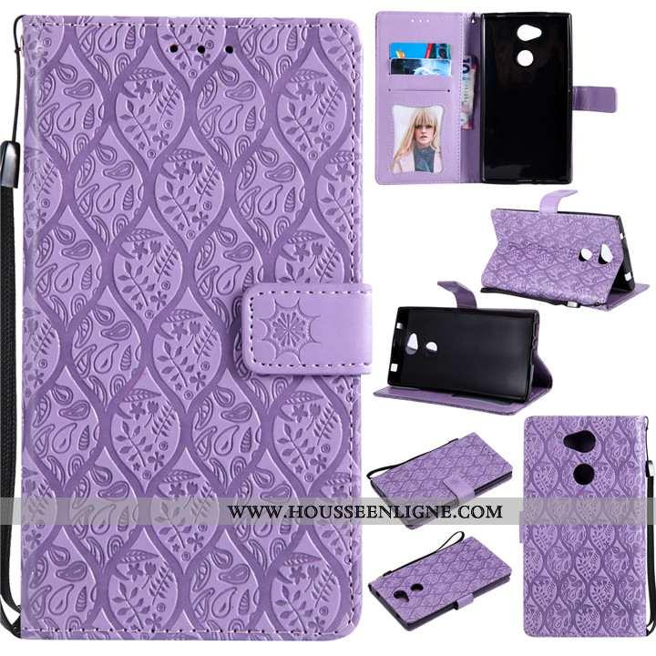 Étui Sony Xperia L2 Fluide Doux Coque En Silicone Créatif Violet Téléphone Portable Cuir