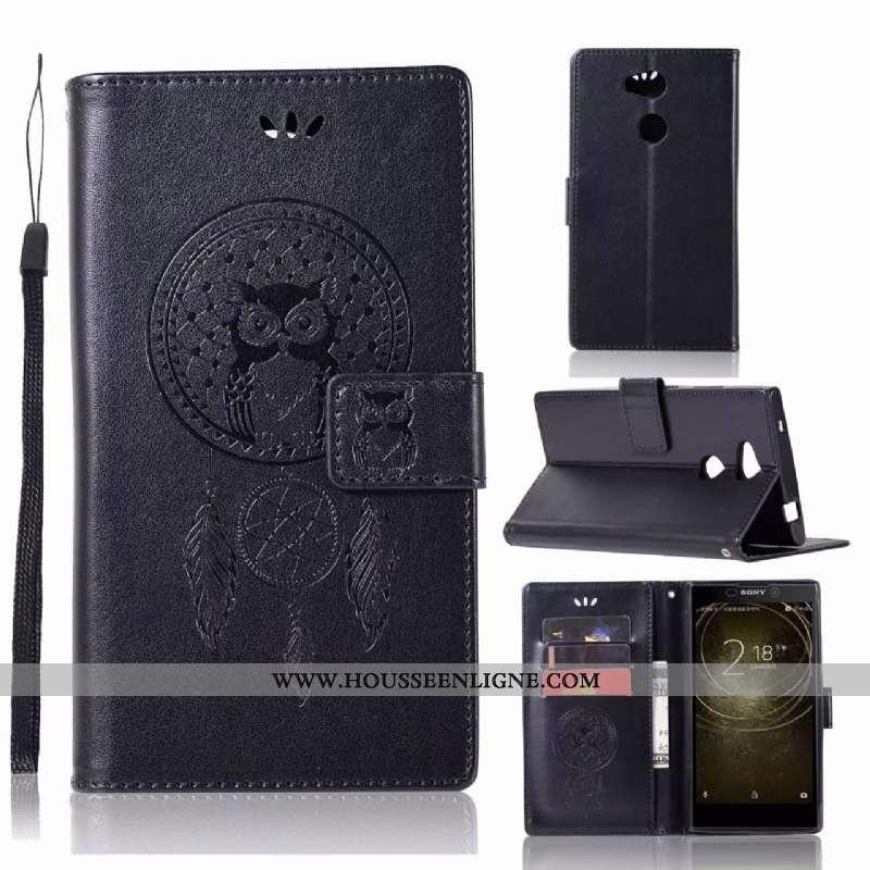 Étui Sony Xperia L2 Fluide Doux Protection Noir Téléphone Portable Cuir Coque Incassable