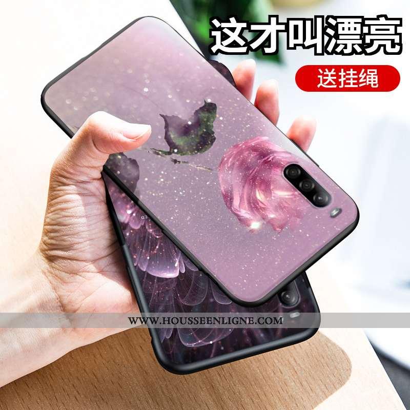 Étui Sony Xperia L4 Dessin Animé Silicone Rose Incassable Coque Téléphone Portable