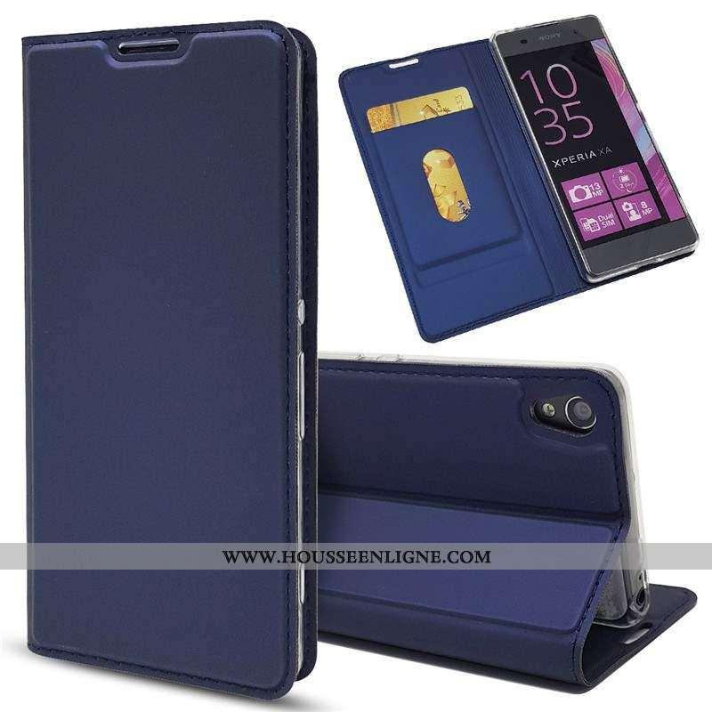 Étui Sony Xperia Xa Cuir Coque Téléphone Portable Housse Bleu