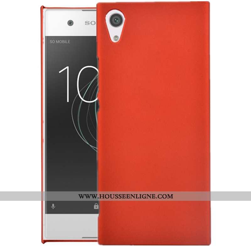 Étui Sony Xperia Xa Protection Délavé En Daim Coque Rouge Téléphone Portable Difficile