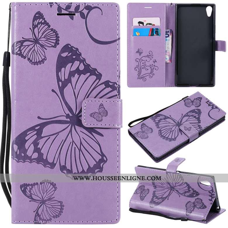 Étui Sony Xperia Xa Ultra Cuir Protection Clamshell Téléphone Portable Tout Compris Incassable Viole