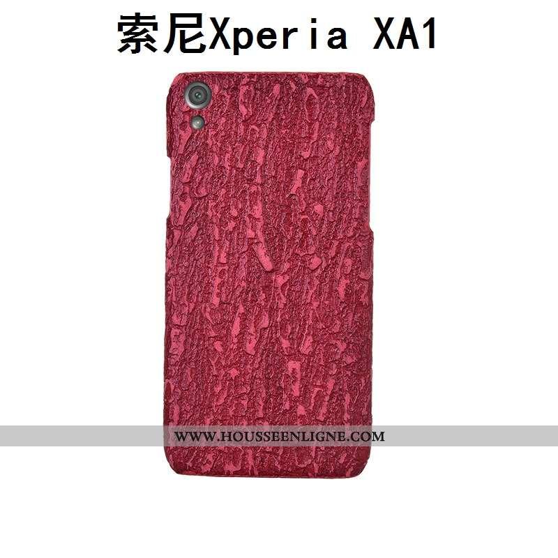 Étui Sony Xperia Xa1 Créatif Cuir Véritable Couvercle Arrière Personnalisé Téléphone Portable Coque