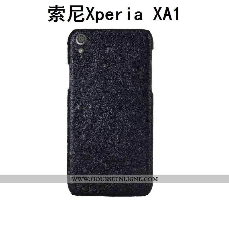 Étui Sony Xperia Xa1 Créatif Cuir Véritable Couvercle Arrière Personnalité Personnalisé Incassable M