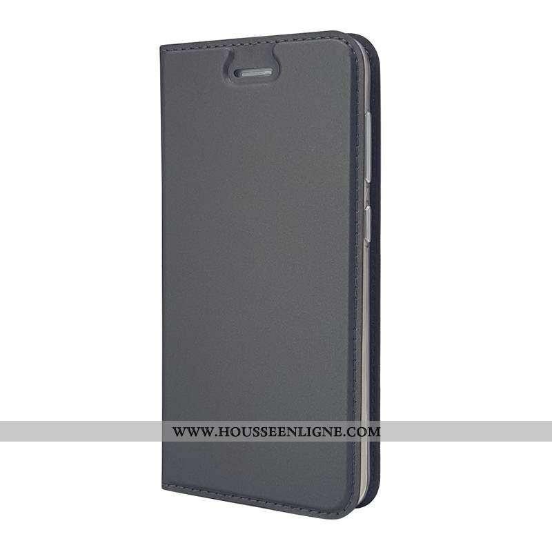 Étui Sony Xperia Xa1 Cuir Housse Téléphone Portable Noir Coque
