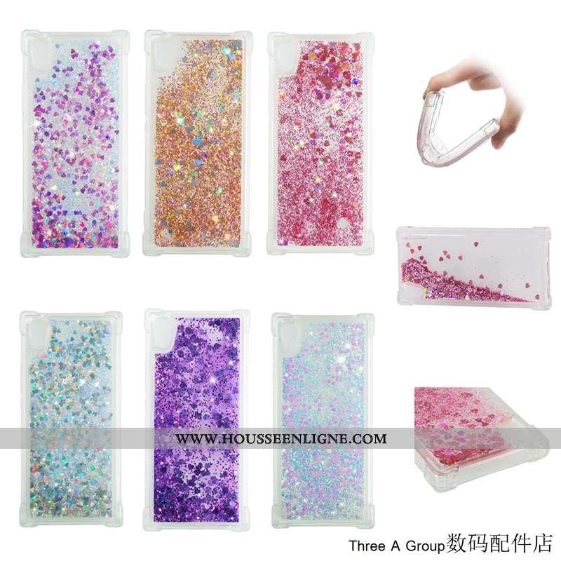Étui Sony Xperia Xa1 Fluide Doux Créatif Tendance Quicksand Simple Rose Téléphone Portable
