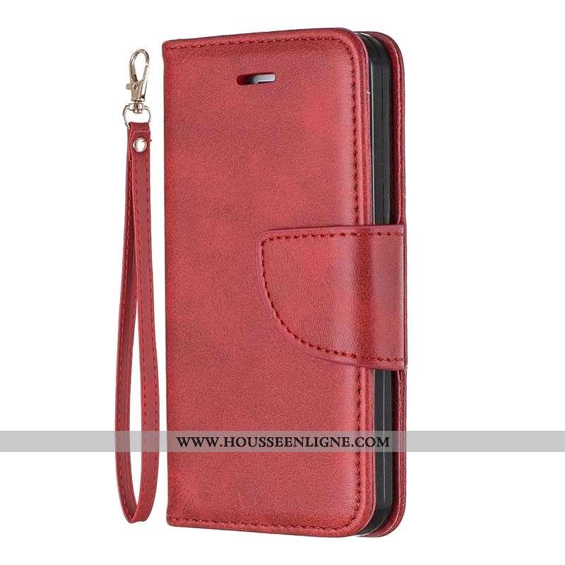 Étui Sony Xperia Xa1 Plus Cuir Protection Téléphone Portable Incassable Tout Compris Rouge Business