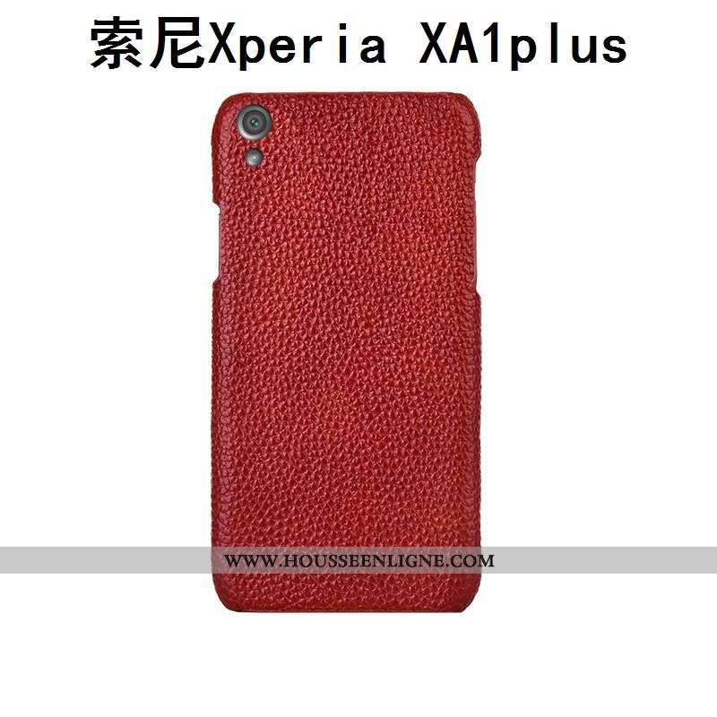 Étui Sony Xperia Xa1 Plus Luxe Personnalité Mode Téléphone Portable Rouge Incassable