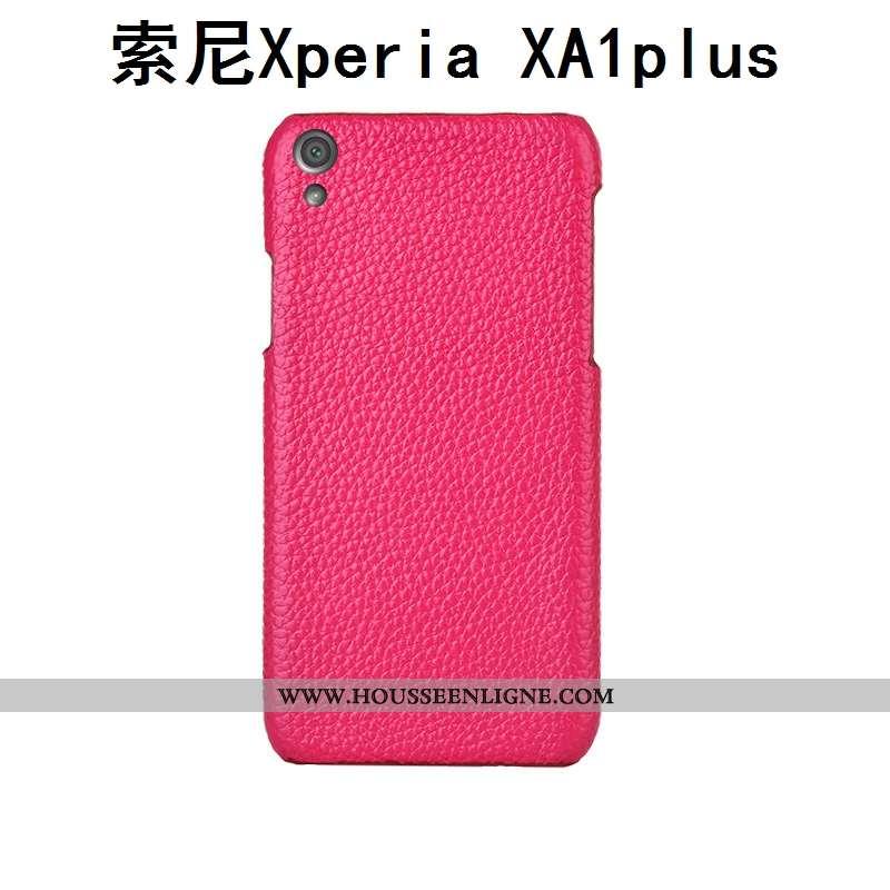 Étui Sony Xperia Xa1 Plus Protection Luxe Coque Cuir Véritable Personnalité Téléphone Portable Incas