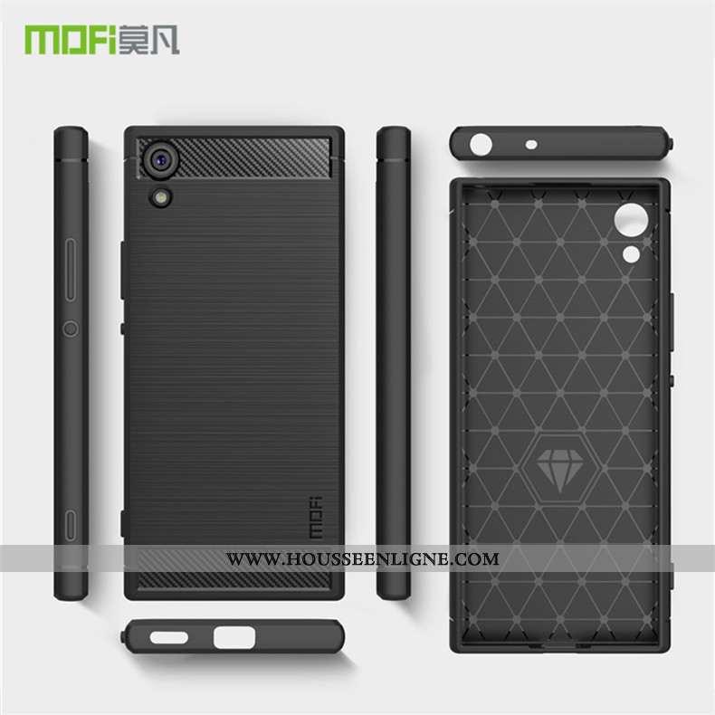 Étui Sony Xperia Xa1 Ultra Modèle Fleurie Protection Fibre Bordure Téléphone Portable Coque Noir