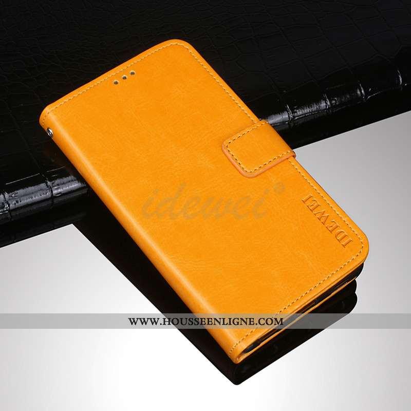 Étui Sony Xperia Xa1 Ultra Protection Cuir Incassable Housse Jaune Coque Téléphone Portable