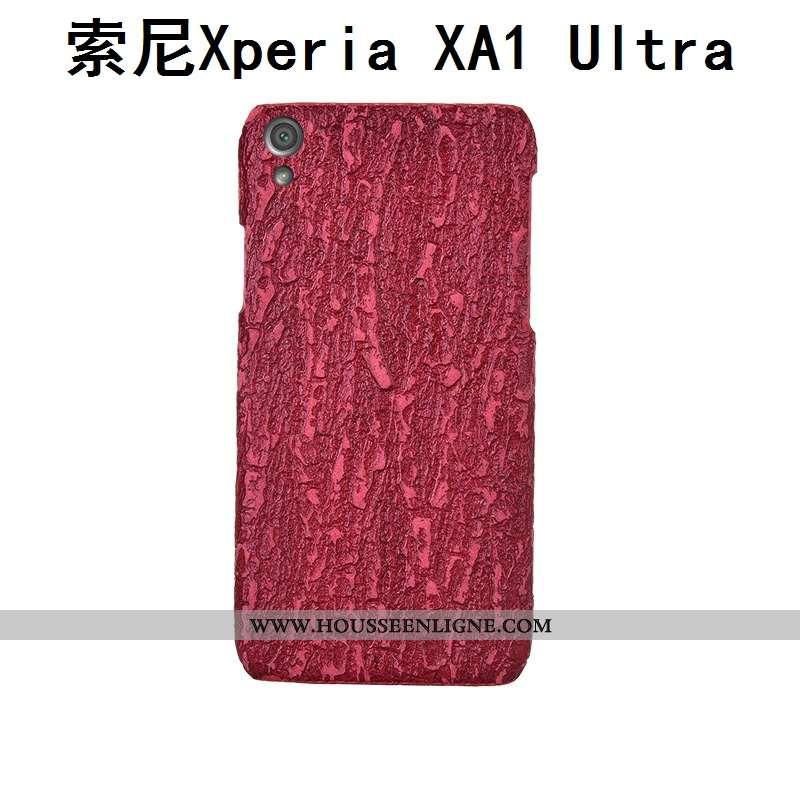 Étui Sony Xperia Xa1 Ultra Protection Luxe Coque Personnalisé Personnalité Créatif Rouge