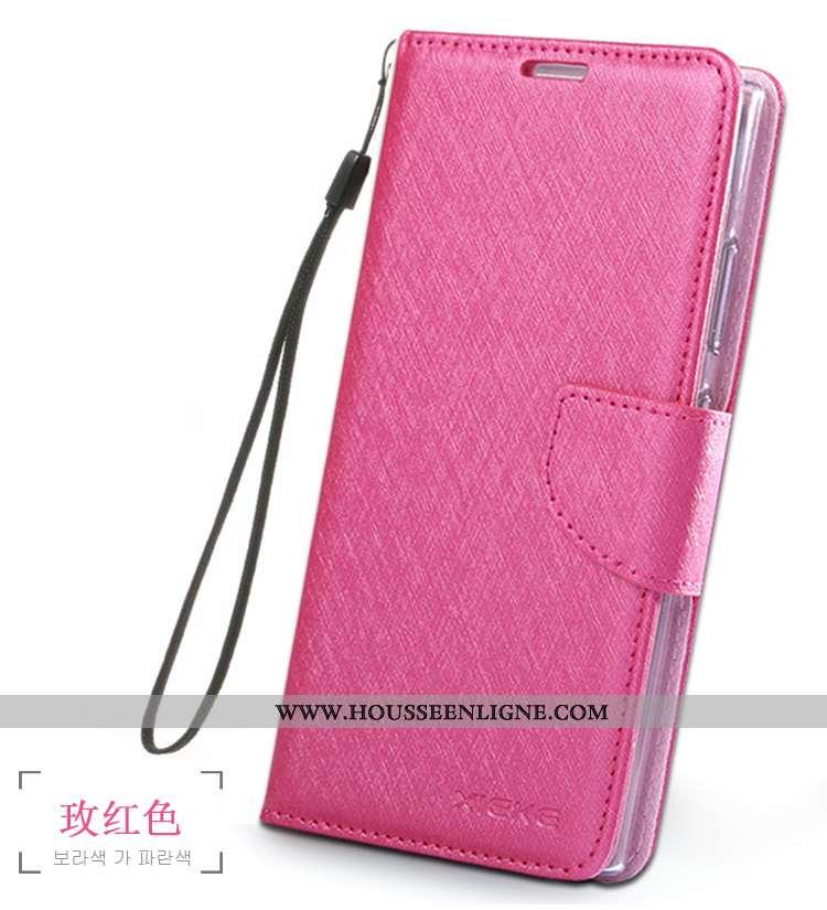 Étui Sony Xperia Xa2 Cuir Fluide Doux Incassable Rouge Téléphone Portable Housse Rose
