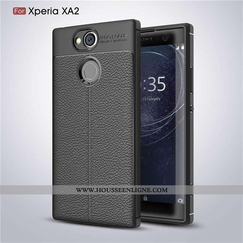 Étui Sony Xperia Xa2 Fluide Doux Protection Incassable Antidérapant Coque Noir Téléphone Portable