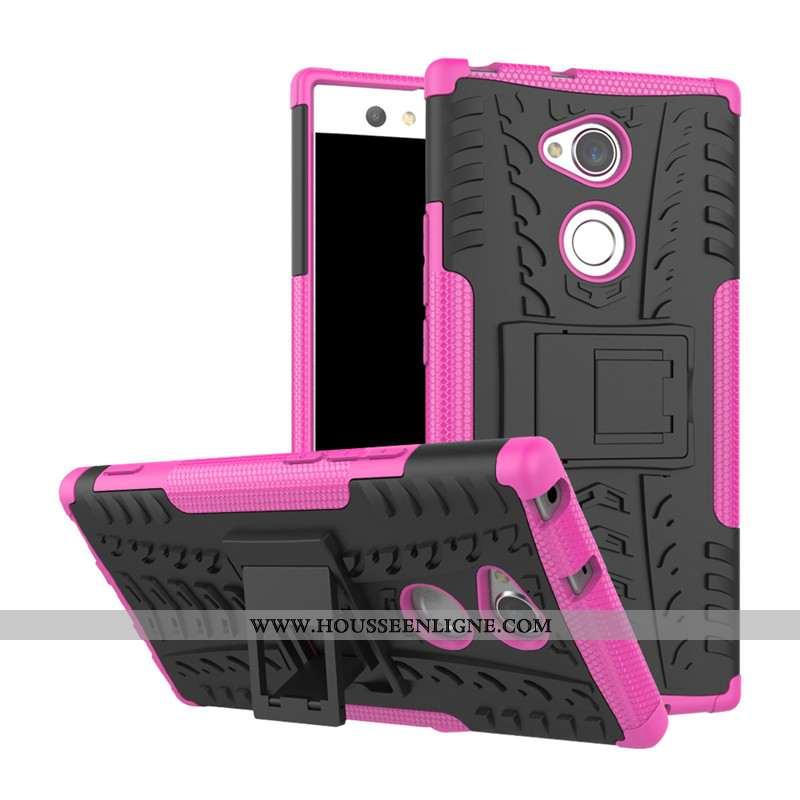 Étui Sony Xperia Xa2 Protection Rouge Téléphone Portable Incassable Coque Support Rose