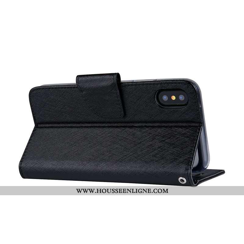 Étui Sony Xperia Xa2 Ultra Cuir Modèle Fleurie Mois Soie Mulberry Housse Couleur Unie Noir