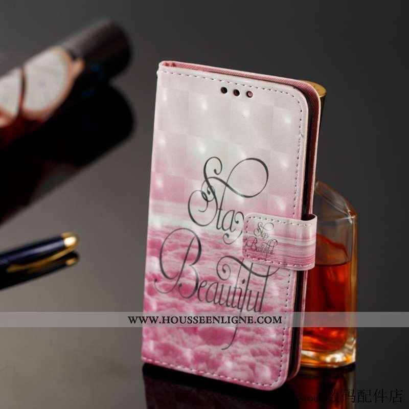 Étui Sony Xperia Xz Premium Cuir Protection Carte Rose Tout Compris Clamshell Téléphone Portable