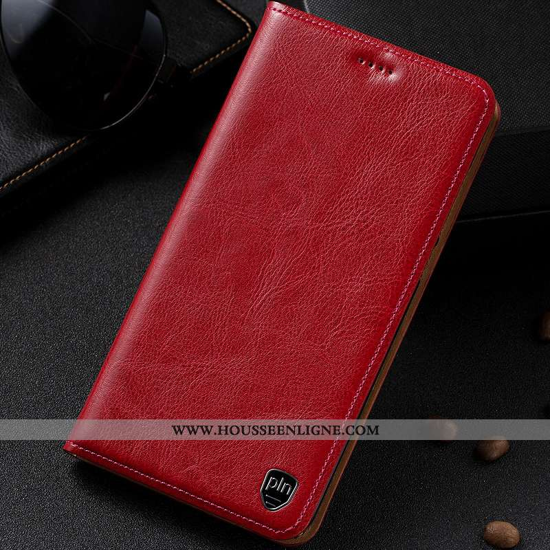 Étui Sony Xperia Xz Premium Protection Cuir Véritable Coque Téléphone Portable Manuel Housse Bordeau