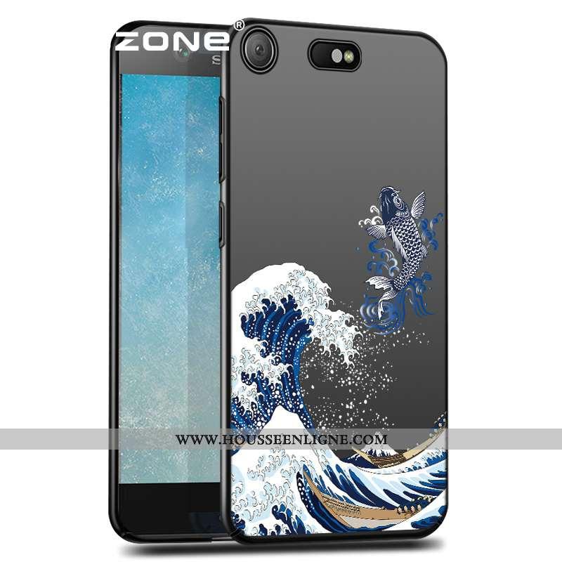 Étui Sony Xperia Xz Premium Silicone Protection Délavé En Daim Ultra Coque Style Chinois Noir