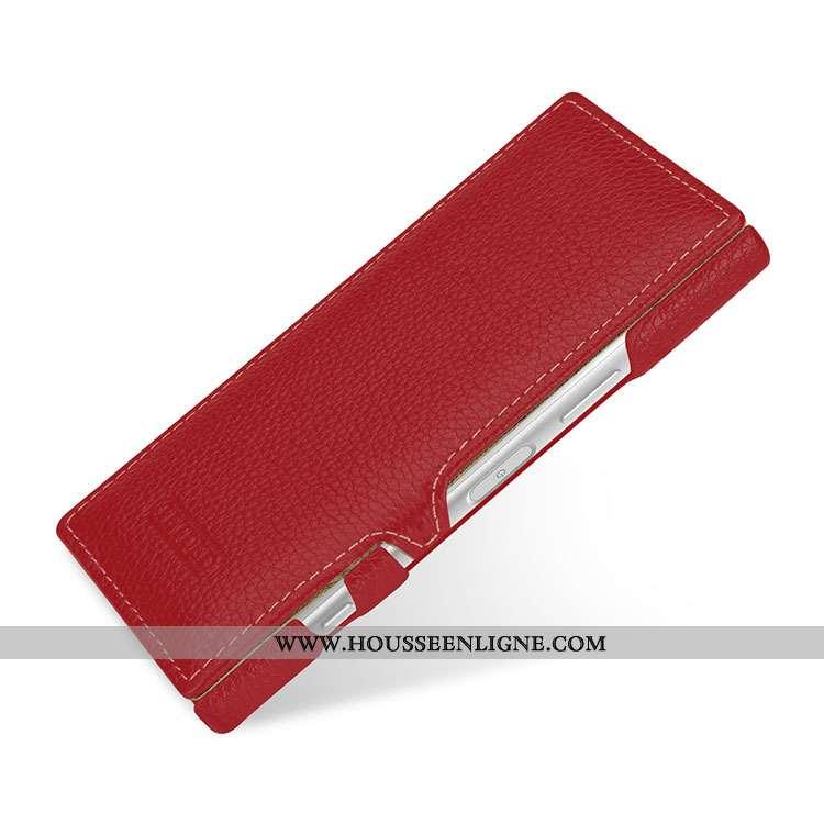 Étui Sony Xperia Xz1 Compact Protection Cuir Véritable Incassable Rouge Housse Téléphone Portable
