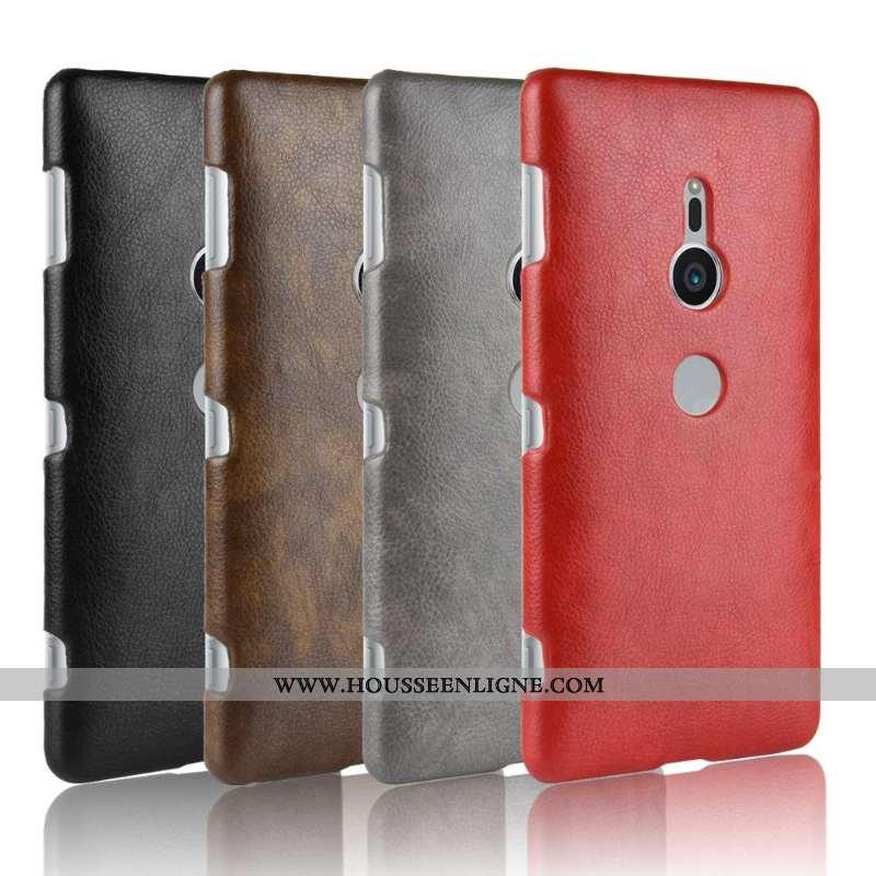 Étui Sony Xperia Xz2 Cuir Modèle Fleurie Incassable Protection Coque Rouge