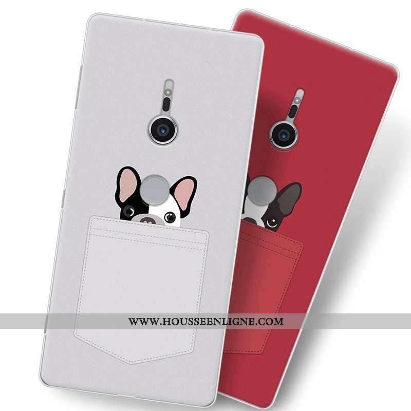 Étui Sony Xperia Xz2 Fluide Doux Protection Tout Compris Téléphone Portable Dessin Animé Gris