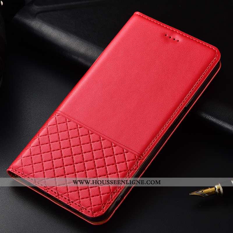 Étui Sony Xperia Xz2 Premium Cuir Protection Rouge Véritable Housse Coque Luxe