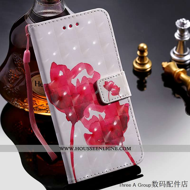 Étui Sony Xperia Xz2 Premium Protection Cuir Silicone Blanc Téléphone Portable Coque Blanche