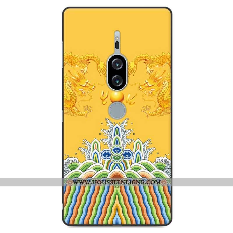 Étui Sony Xperia Xz2 Premium Protection Fluide Doux Jaune Téléphone Portable Incassable Coque