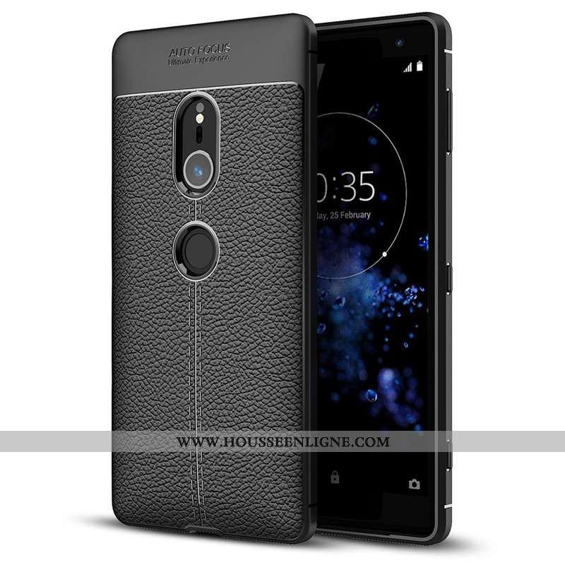 Étui Sony Xperia Xz2 Protection Fluide Doux Silicone Noir Téléphone Portable Tout Compris