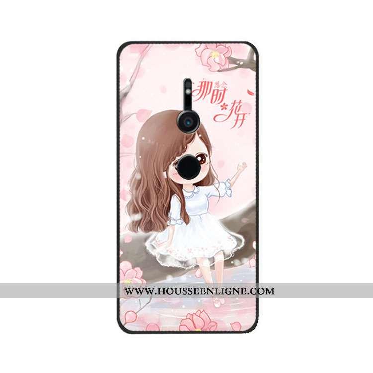Étui Sony Xperia Xz3 Créatif Tendance Téléphone Portable Fluide Doux Silicone Personnalité Rose