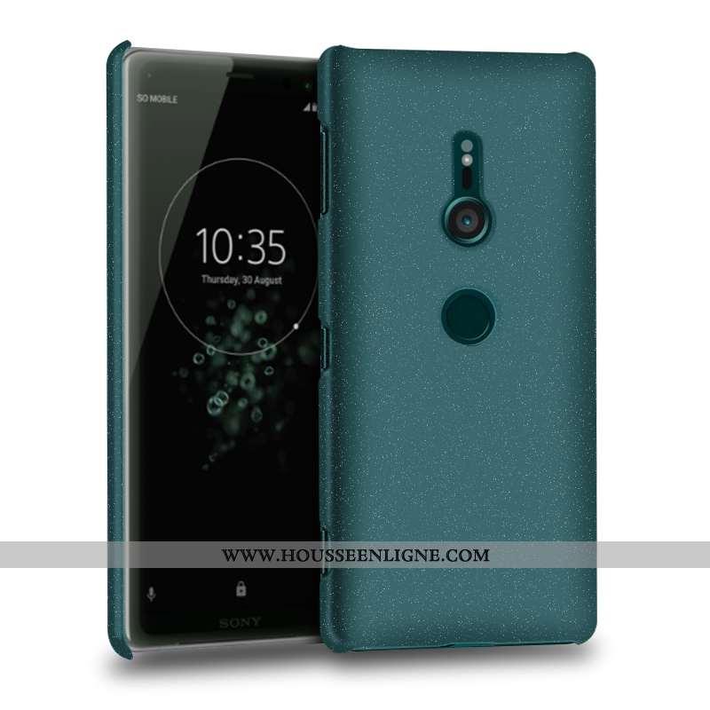 Étui Sony Xperia Xz3 Délavé En Daim Protection Coque Téléphone Portable Vert Verte
