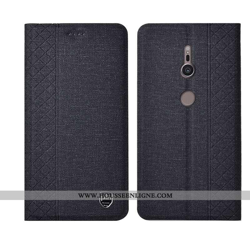 Étui Sony Xperia Xz3 Fluide Doux Silicone Cuir Incassable Cuir Véritable Housse Noir
