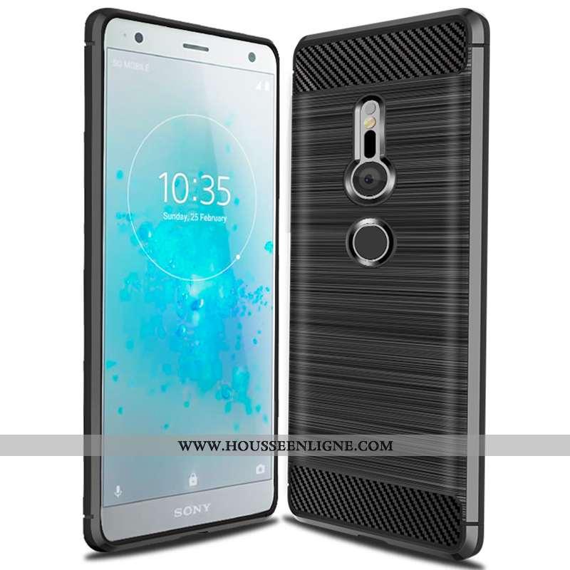 Étui Sony Xperia Xz3 Fluide Doux Silicone Tout Compris Incassable Noir Téléphone Portable